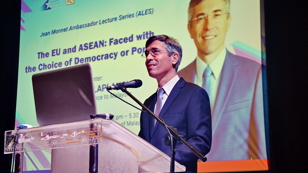 Photo Gallery: Jean Monnet Ambassador Lecture Series featuring H.E. Frédéric LAPLANCHE, Ambassador of France to Malaysia