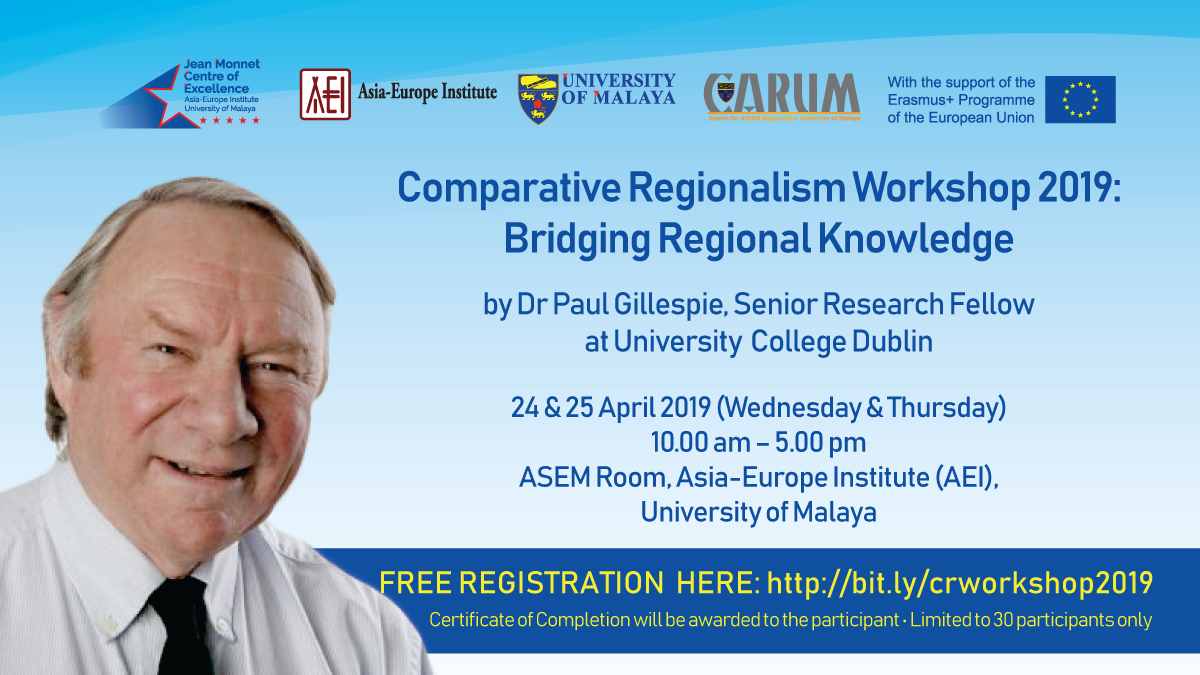 Comparative Regionalism Workshop 2019: Bridging Regional Knowledge