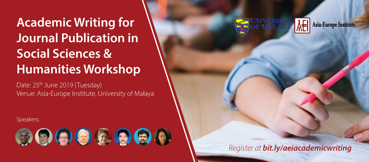 Academic Writing for Journal Publication in Social Sciences & Humanities Workshop