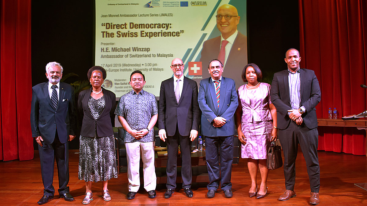 Report on Jean Monnet Ambassador Lecture Series featuring H.E. Michael Winzap, Ambassador of Switzerland to Malaysia