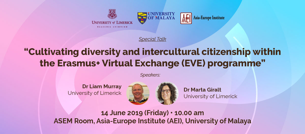 Special Talk: Cultivating diversity and intercultural citizenship within the Erasmus+ Virtual Exchange (EVE) programme
