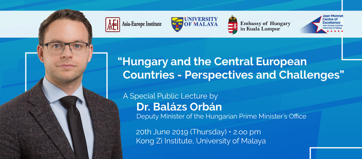 A Special Public Lecture by Dr. Balázs Orbán, Deputy Minister of the Hungarian Prime Minister's Office