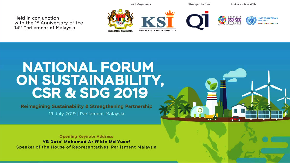 National Forum on Sustainability, CSR & SDG 2019