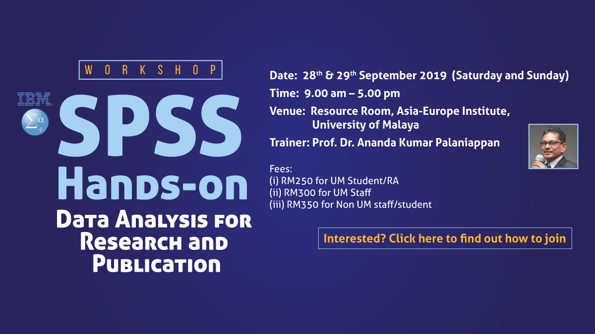 SPSS Hands-on: Data Analysis for Research and Publication Workshop