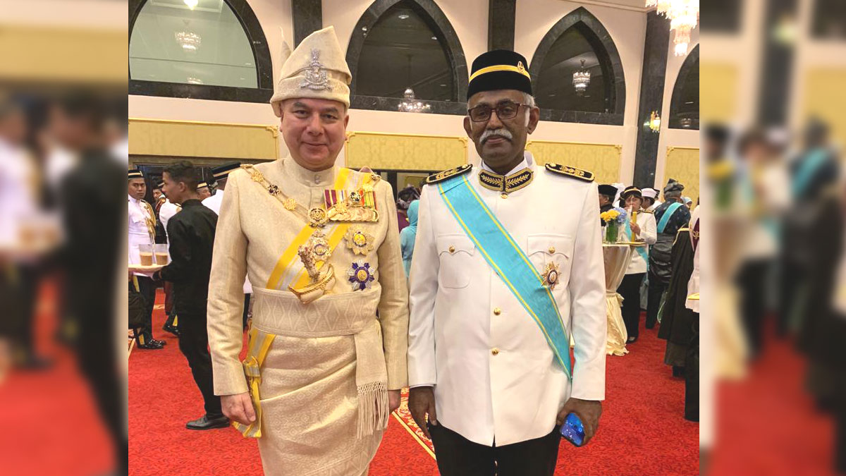 Prof Rajah Rasiah bestowed datukship by Sultan of Perak. Congratulations!