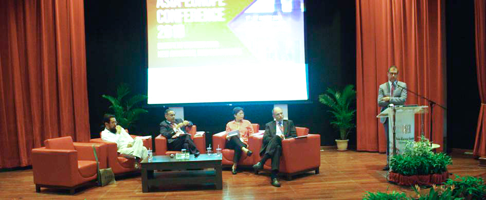 From left to right: Dr. Farish A. Noor, Dr. Jatswan Singh, Dr. Yeo Lay Hwee, Mr. Enrico Letta and Professor Sven Biscop