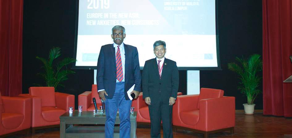 Professor Rajah Rasiah, Distinguished Professor, University of Malaya (left) and YM Raja Dato' Nushirwan Zainal Abidin (right)