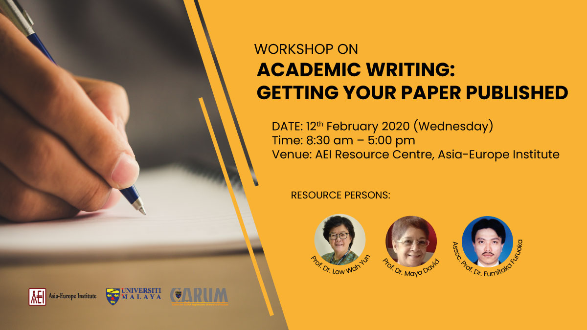 Workshop on Academic Writing: Getting Your Paper Published