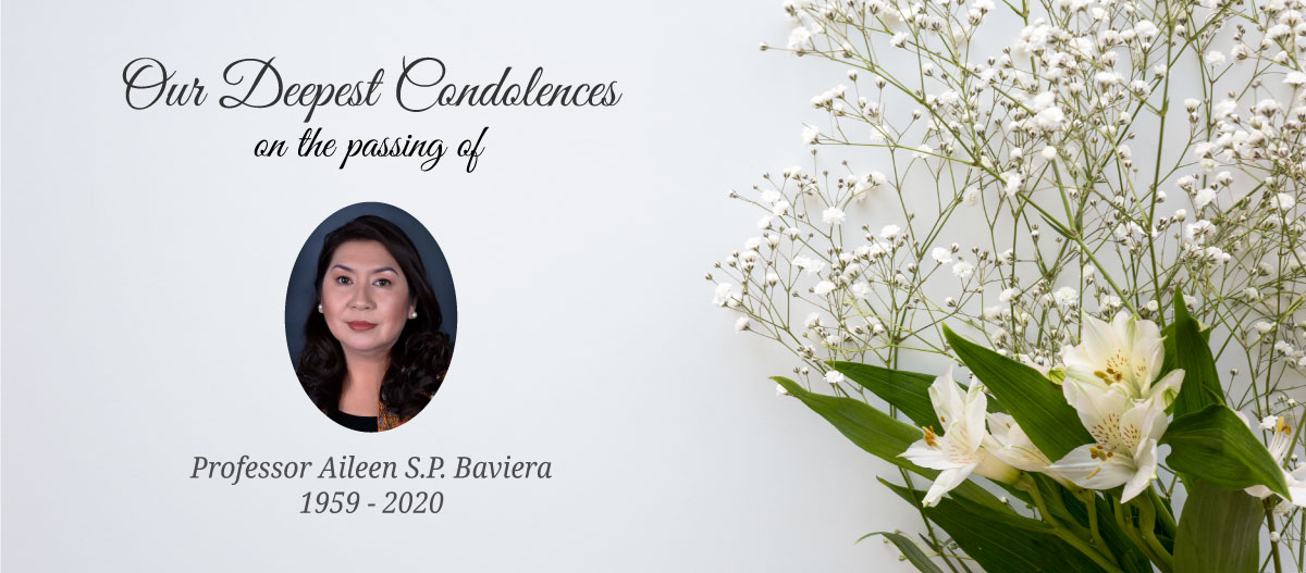 The passing of Professor Dr. Aileen S. P. Baviera