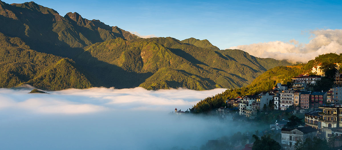 View from Sapa Valley in Vietnam
