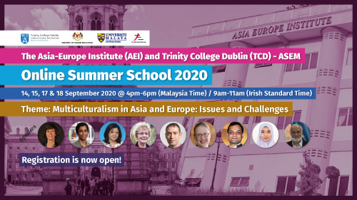 he Asia-Europe Institute (AEI) and Trinity College Dublin (TCD) - ASEM Online Summer School 2020
