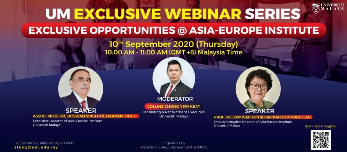 Exclusive Opportunity @ Asia-Europe Institute