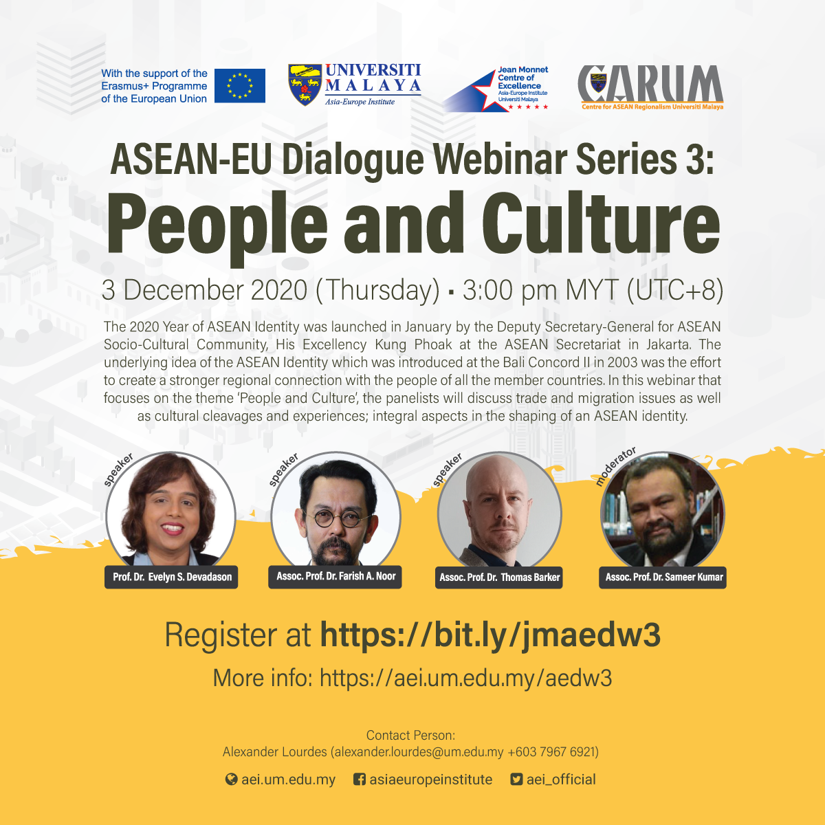 ASEAN-EU DIALOGUE WEBINAR SERIES 3: People and Culture