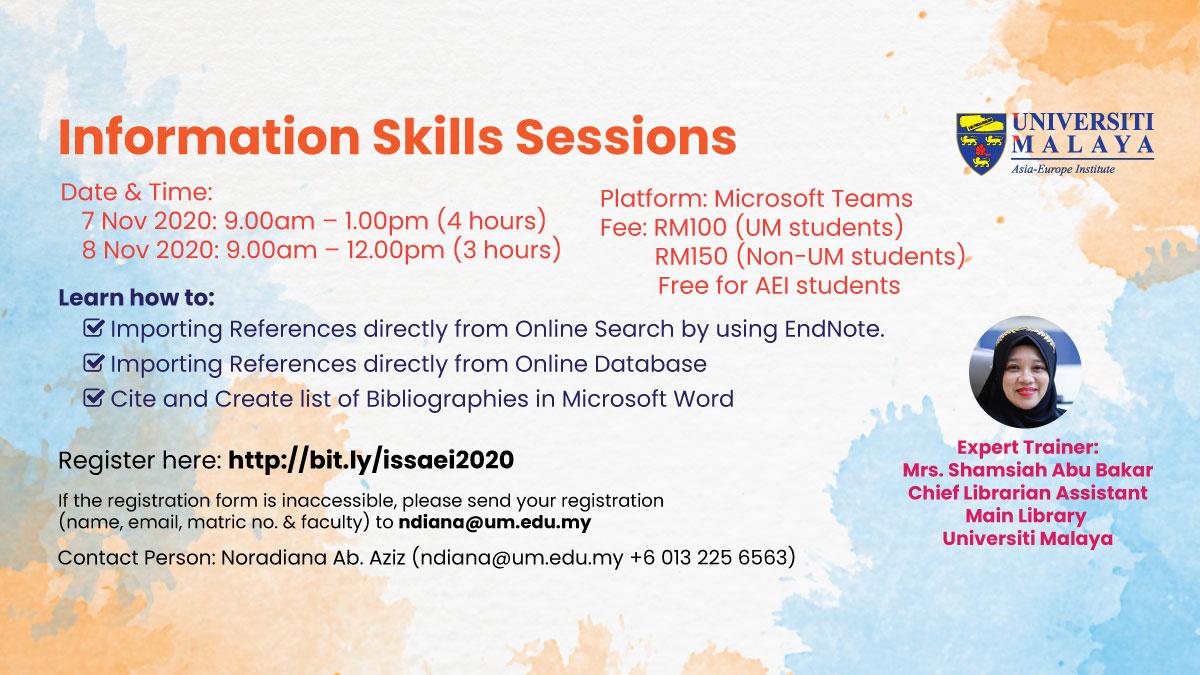 Information Skills Sessions