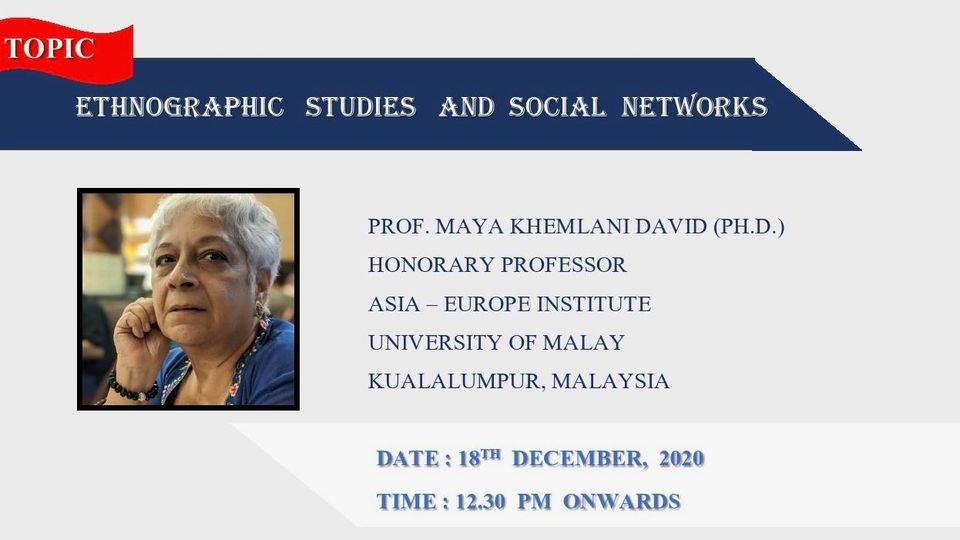 Professor Dr. Maya David's lecture on Ethnographic Studies and Social Networks