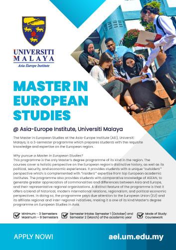 Master in European Studies (MES)