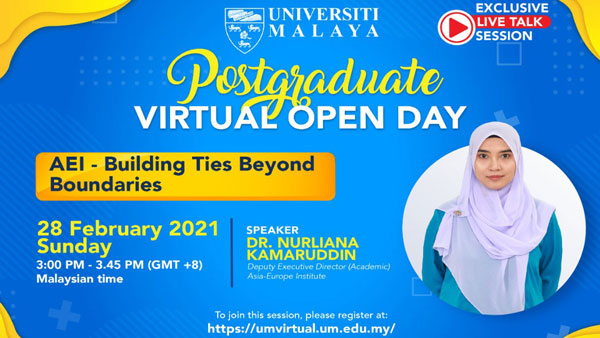 UM Postgraduate Virtual Open Day Talk by Dr. Nurliana Kamaruddin