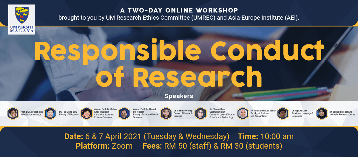 Responsible Conduct of Research Online Workshop