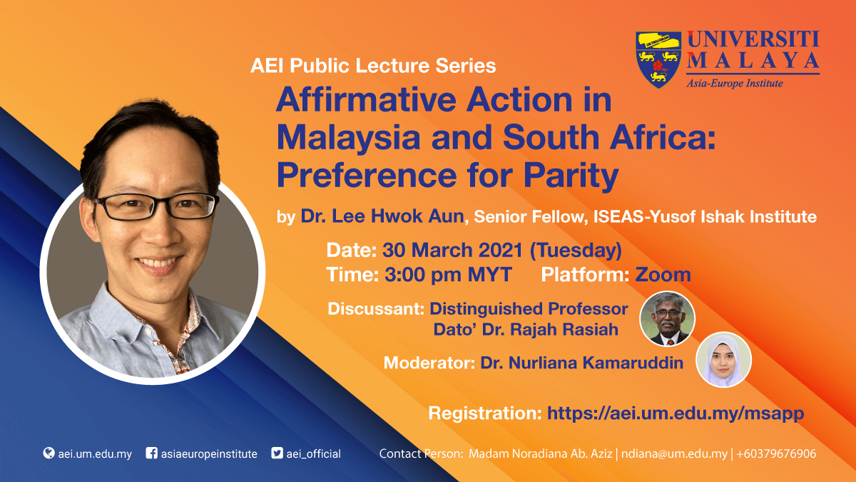 Affirmative Action in Malaysia and South Africa: Preference for Parity