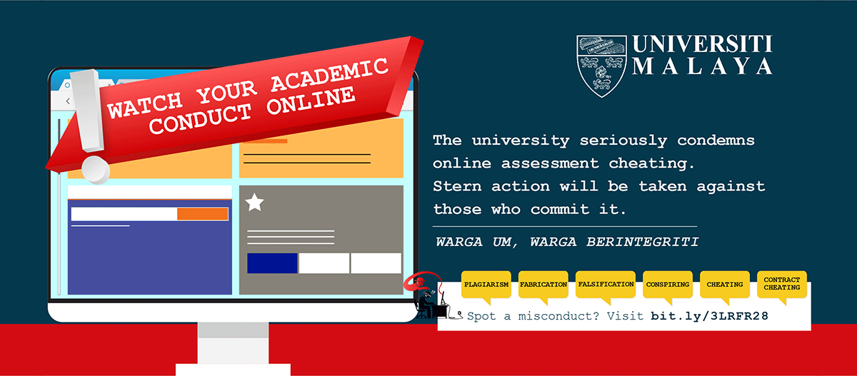 Watch your academic conduct online