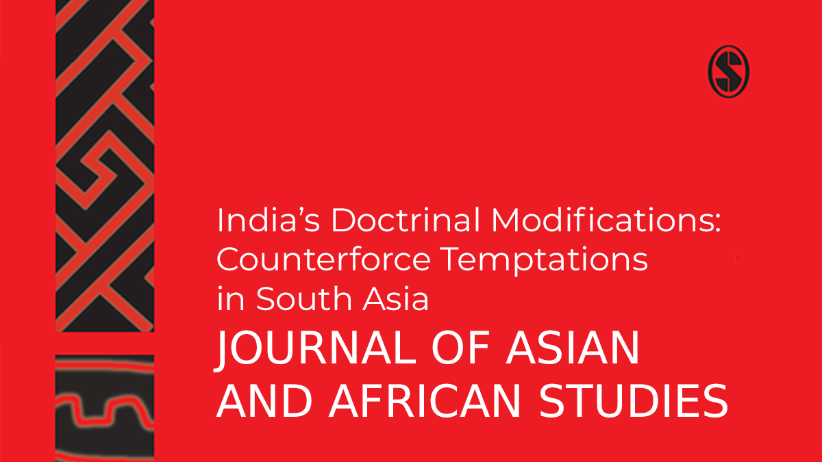 India's Doctrinal Modifications: Counterforce Temptations in South Asia