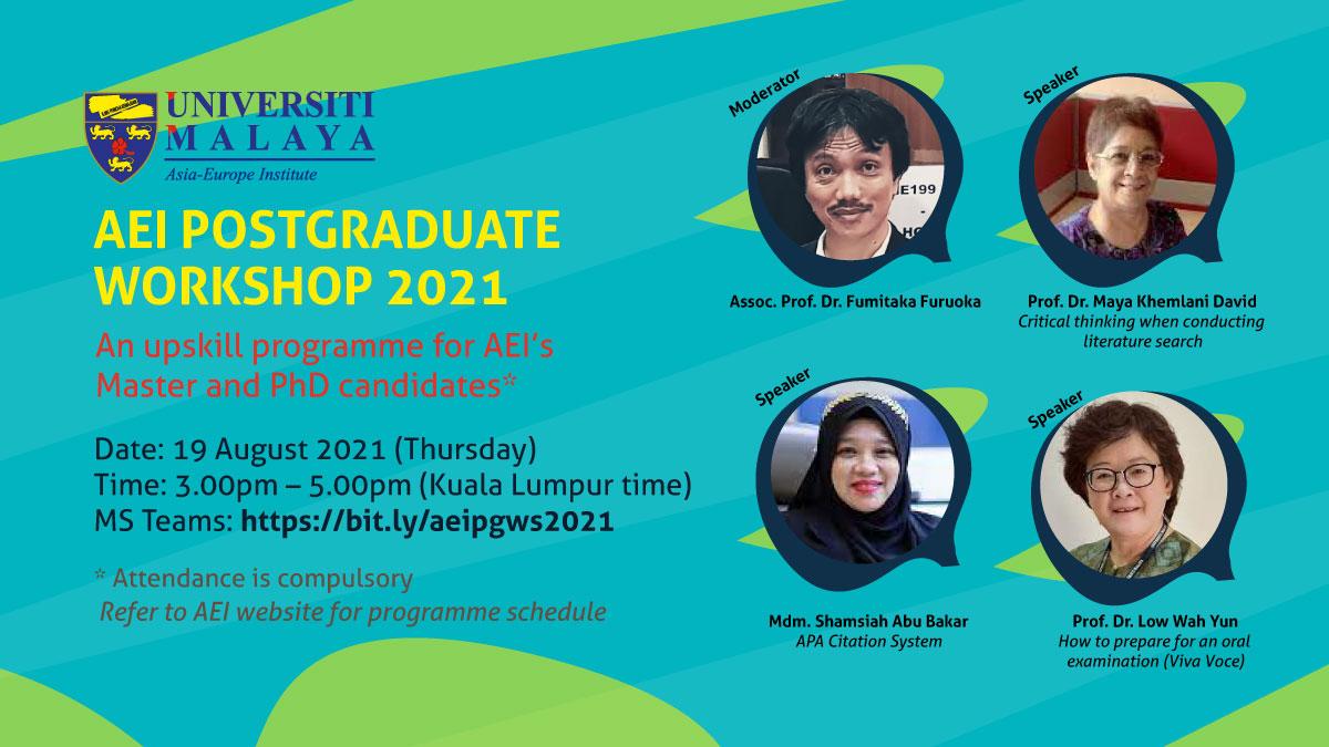 AEI Postgraduate Workshop 2021