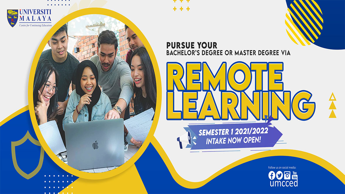 Pursue your Bachelor's or Master's Degree via Remote Learning