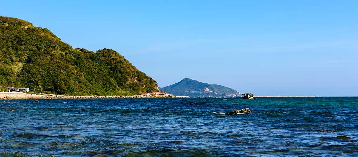 Xiaodonghai Bay in South China Sea. Sanya, Hainan, China.