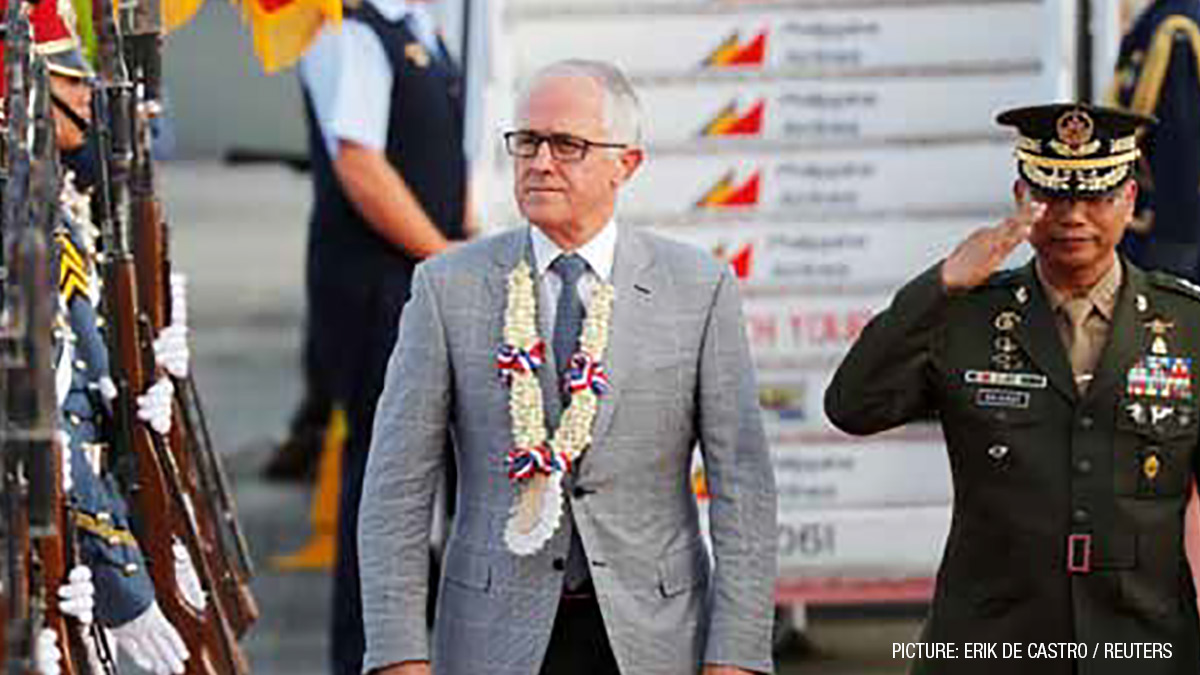 Australia Prime Minister Malcolm Turnbull arrives for the ASEAN summit in Clark, Pampanga, the Philippines, in November 2017. Deeper relations with ASEAN would make Australia 'a less lonely country'.
