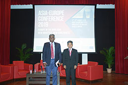 Professor Rajah Rasiah, Distinguished Professor, University of Malaya (left) as moderator and YM Raja Dato' Nushirwan Zainal Abidin (right)