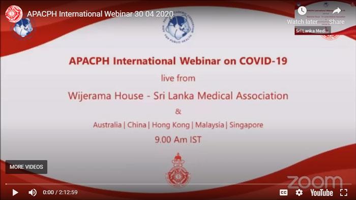 APACPH International Webinar on COVID19 response in the Region