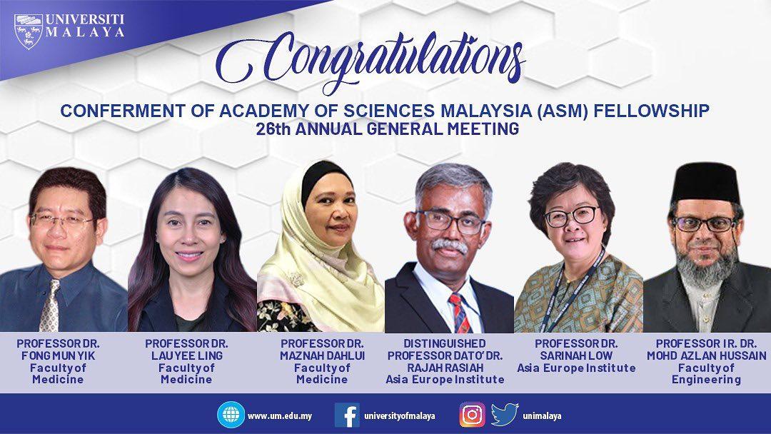Congratulations to Distinguished Professor Dato' Dr. Rajah Rasiah and Professor Dr. Sarinah Low Abdullah @ Low Wah Yun