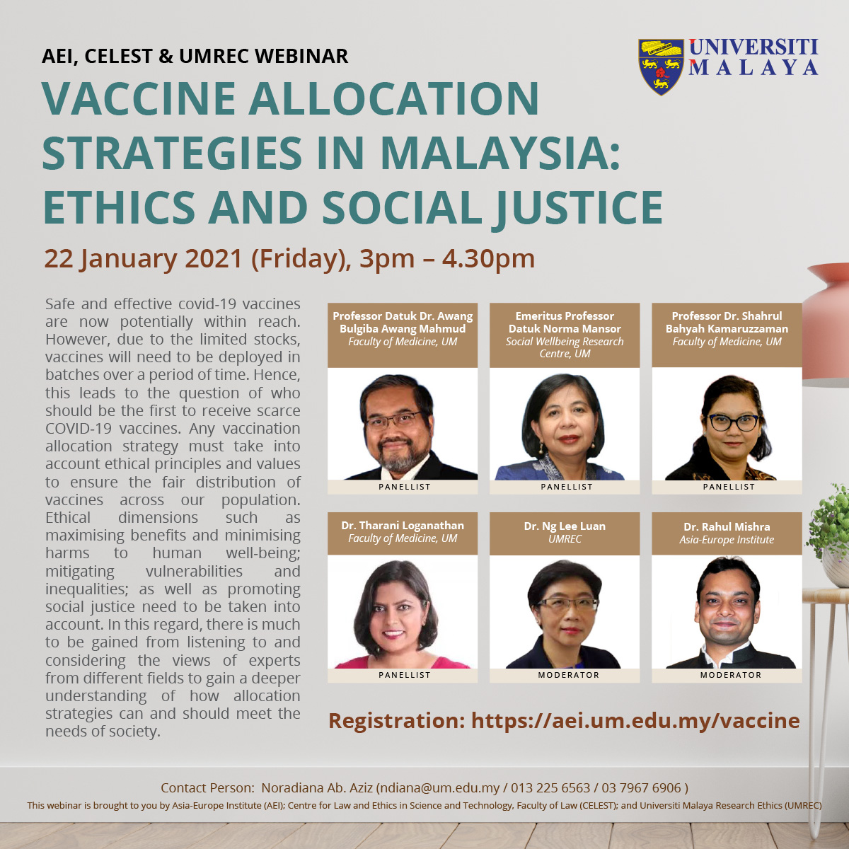 Vaccine Allocation Strategies in Malaysia: Ethics and Social Justice