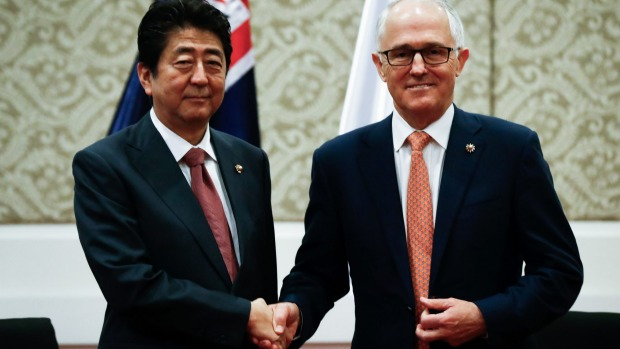 Prime Minister Turnbull's March 2018 Australia ASEAN Special Summit should both symbolise, and provide an opportunity to spell out, Australian support. Mr Turnbull met Japanese Prime Minister Shinzo Abe during a bilateral meeting at the ASEAN Summit in Manila, Philippines last year. Fairfax Media