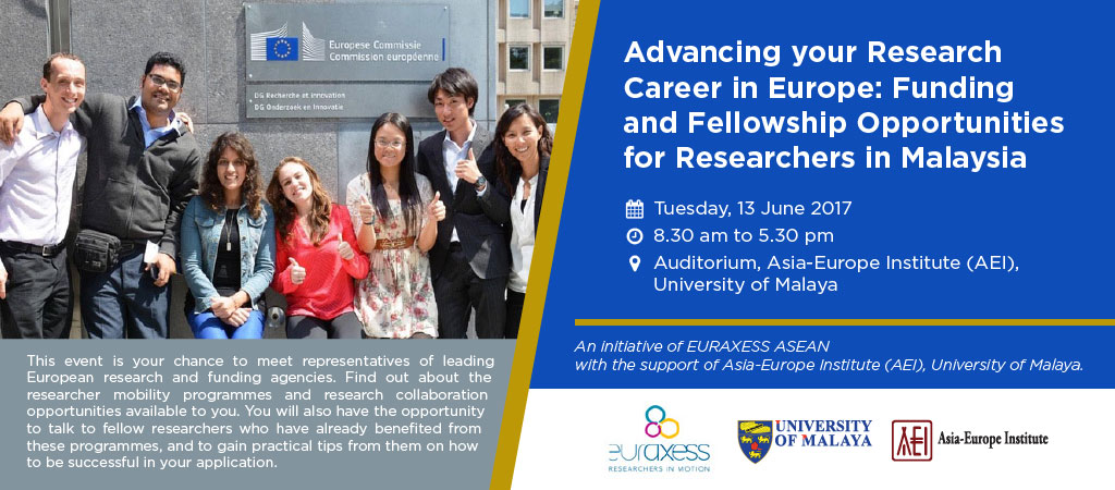Advancing your Research Career in Europe: Funding and Fellowship Opportunities for Researchers in Malaysia