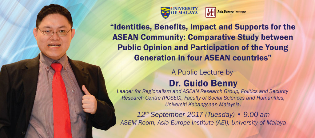 Public Lecture by Dr. Guido Benny from Universiti Kebangsaan Malaysia