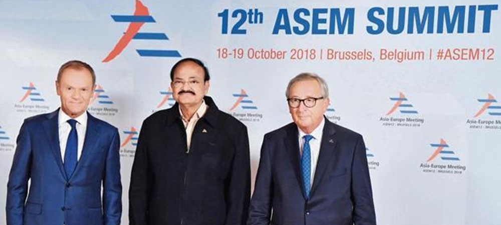 Venkaiah Naidu, the vice president, represented India at the ASEM and highlighted key concerns and priorities for the government. Photo: Reuters