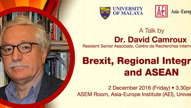 Brexit, Regional Integrations and ASEAN