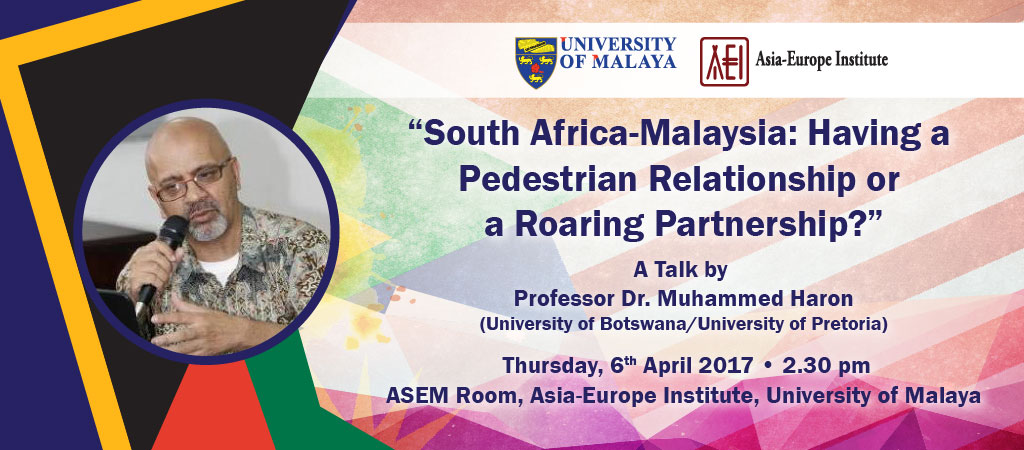 South Africa-Malaysia: Having a Pedestrian Relationship or a Roaring Partnership?