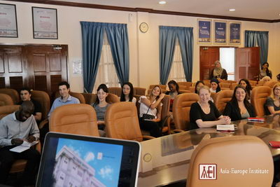 Students gathered at ASEM Room