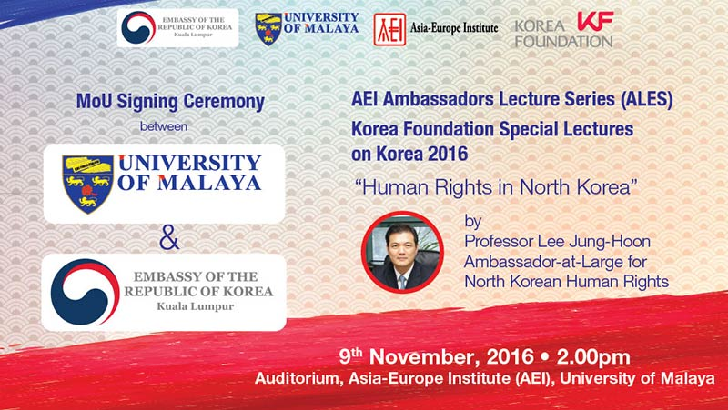 Ambassadors Lecture Series (ALES) Human Rights in North Korea