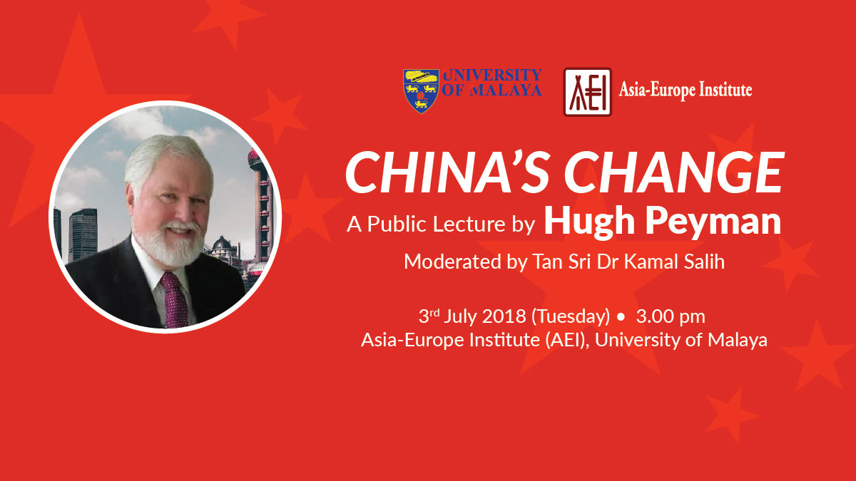 China's Change - A Public Lecture by Hugh Peyman