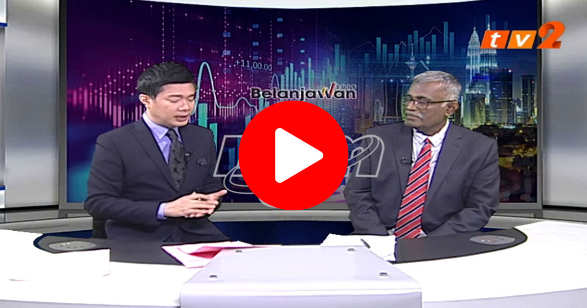 Prof. Rajah Rasiah was a guest on TV2's News@2 commenting on Budget 2019