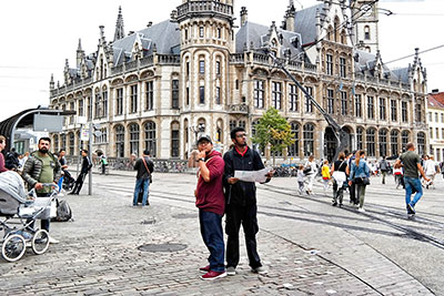 Sufi and Aaron in Brussels, Belgium