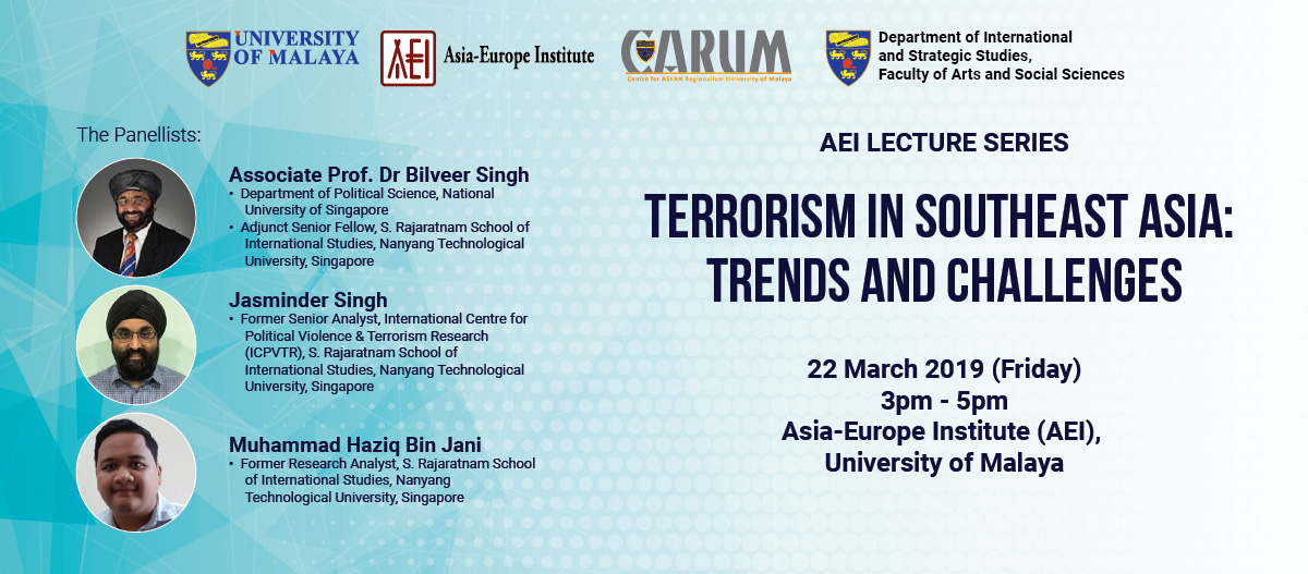 AEI Lecture Series: Terrorism In Southeast Asia: Trends and Challenges