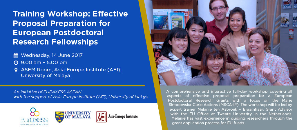 Training Workshop: Effective Proposal Preparation for European Postdoctoral Research Fellowships